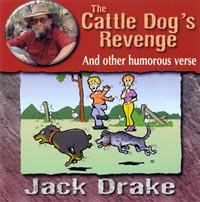 Bush Poetry CD cover The Cattle Dog's Revenge and other humerous verse
